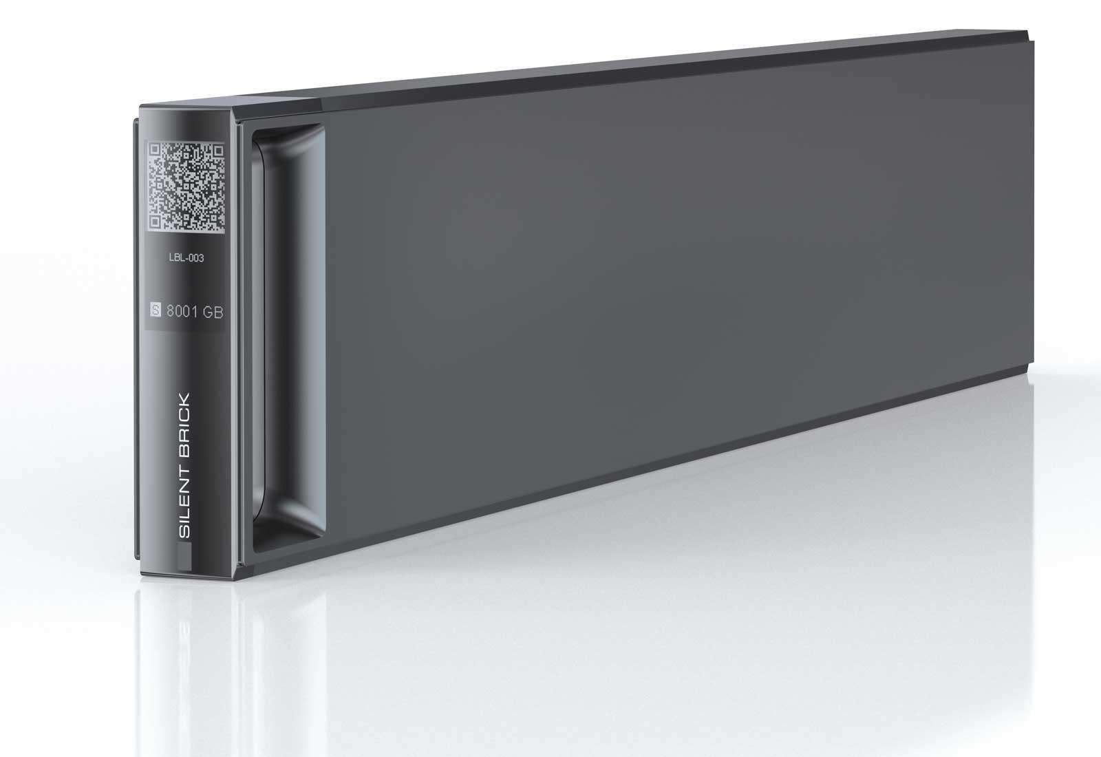 SILENT BRICK - sicherer Storage-Container mit 12 oder 24 TB Nettokapazität